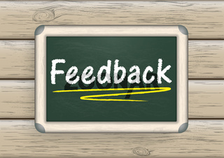 Blackboard Feedback Wood