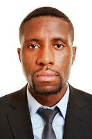 Gesicht von einem afrikanischen Geschäftsmann