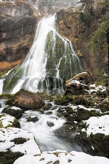 Gollinger Waterfalls at wintertime, Austria