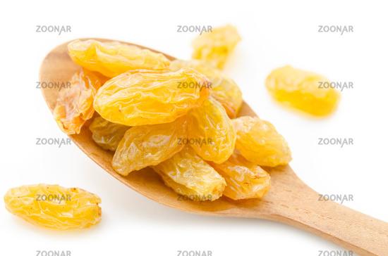 Yellow or gold raisins.