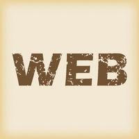 Grungy WEB icon
