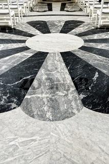 Fußboden mit Mittelpunkt im Dom St.Blasien Schwarzwald Deutschland