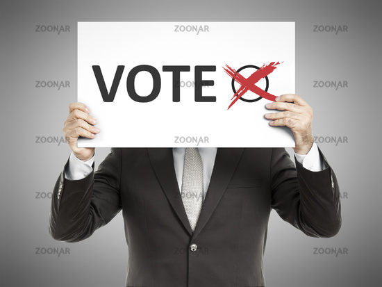 business man message vote
