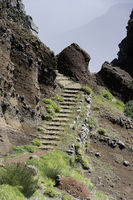 staircase to the pico arieiro on madeira island