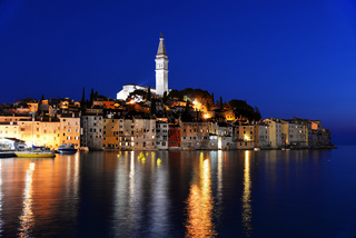 Old town of Rovinj on Istrian peninsula