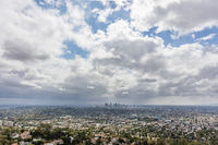 Many clouds over downtown Los Angeles