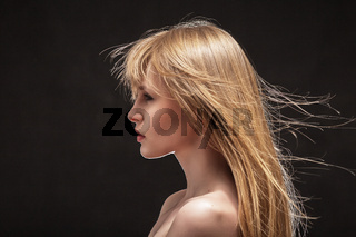 young woman profile
