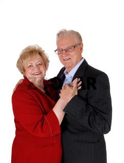 Portrait of smiling senior couple.
