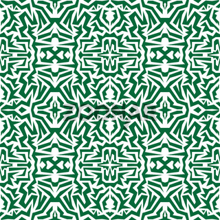 seamless wallpaper. Motley African repetitive pattern. Green print.