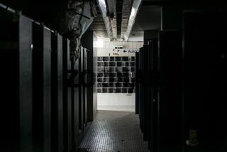 Umkleidekabinen in einem Alten Thermalsolebad in Bad Soden
