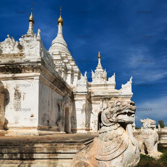 White Pagoda at Inwa ancient city. Myanmar (Burma)