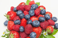 fresh berries mixed isolated on withe