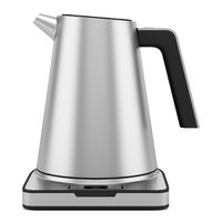 gray electric kettle isolated on white background