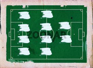 Football (Soccer Field) formation , 4-4-2