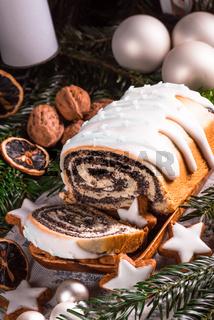 Christmas poppy seed cake