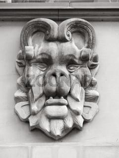 Löwenkopf an Hamburger Fassade