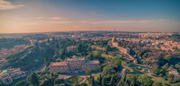Aerial view of Vatican City and Rome, Italy