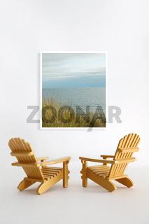 Miniature adirondack chairs