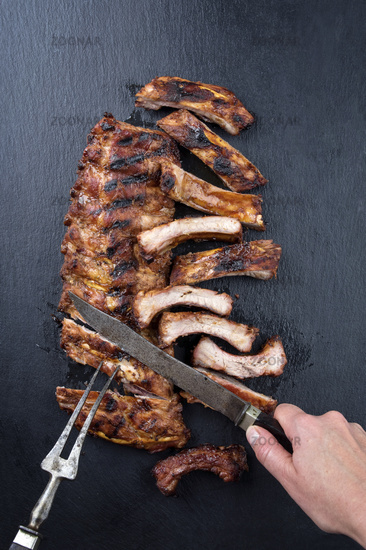 Carving of Spare Ribs