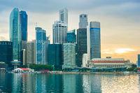 Singapore colorful skyline