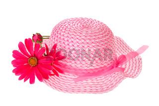 Pink summer hat