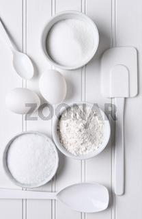 All White Baking Still Life