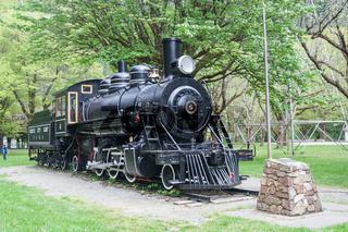 Light steam engine in Newhalem Washington near Seattle