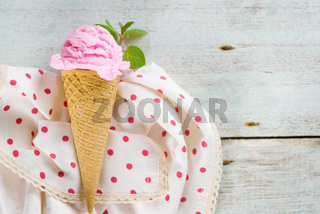 Above view berryfruit ice cream