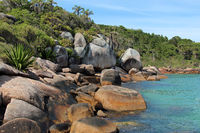 Natural pools at Barra da Lagoa in Florianopolis