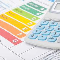 Energy efficiency chart and calculator - studio shot