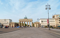 Brandenburg Gate and Pariser Platz in Berlin
