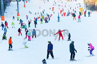 Ski resort scene