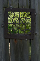 Old Fence with Metal Window