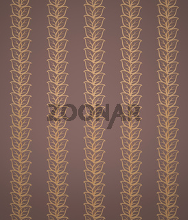 Background with Ornamental Leaves