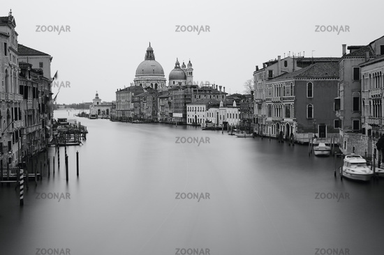 Black and white photo Grand canal