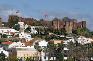 Silves,Portugal - Panorama - Islamic Fortress