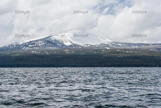 Diamond Lake recreational area in Oregon USA