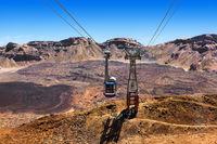 Cableway on Volcano Teide in Tenerife island - Canary Spain