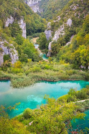 Landscape in Plitvice Lakes National Park, Croatia