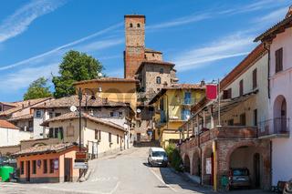 Town of Serralunga d'Alba, Italy.