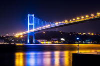 The Bosphorus Bridge At Night