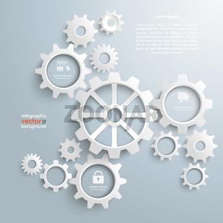Big Machine White Gears Centre Cycle