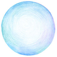 Abstract circle pencil scribbles background texture.