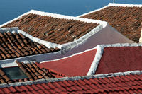 Roofs on the Canary Island of Tenerife, detail