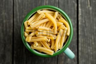 uncooked pasta caserecce