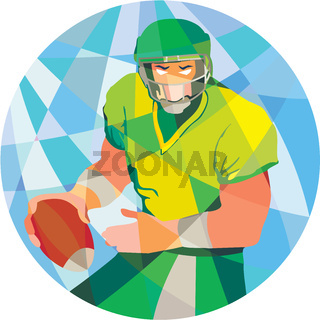 American Football Quarterback Passing Low Polygon