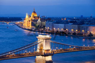 Budapest Cityscape at Night