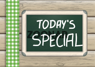 Today's Special Blackboard Wood