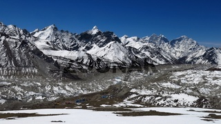Khumbu Glacier and Gorak Shep