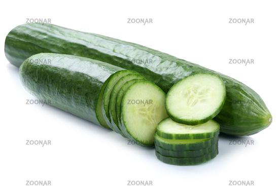 Gurke Gurken Gemüse geschnitten Freisteller freigestellt isoliert